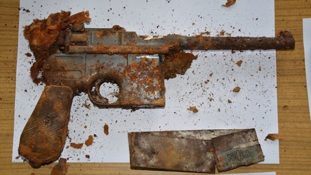 The Mauser had seen better days but looks good for what was likely decades hidden underground (Photos: Ghosts of the Eastern Front)