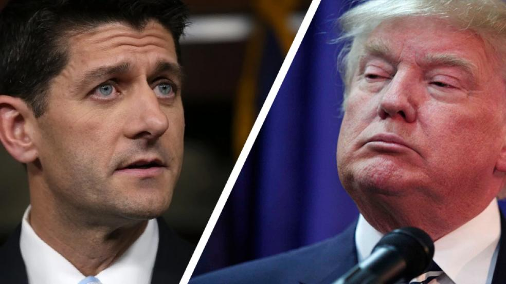 Republican House Speaker Paul Ryan (left) and presumptive GOP presidential nominee Donald Trump (Image: The Fiscal Times)