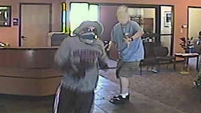Spokane bank robbery security footage
