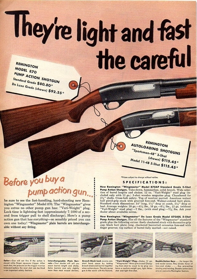 Such as in this 1951 870 ad showing it side by side with the 11-48 note the similarity in the two...