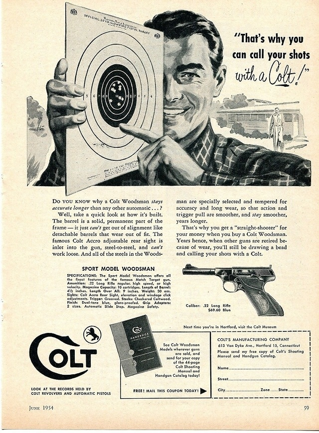 This is how likely you are to get a 1954 Colt Woodsman for $49 today