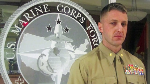 MAJ Jason Brezler hasn't been charged criminally, but could be removed from service. (Photo: Hope Hodge Seck/Marine Times)