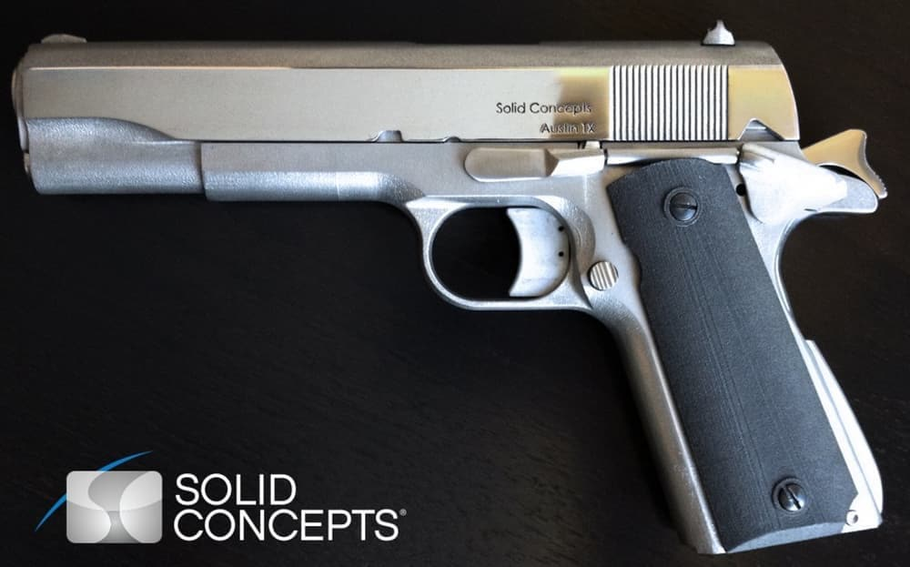 The Model 1911 .45 ACP by Solid Concepts was the first semi-automatic printed handgun. (Photo: Solid Concepts)
