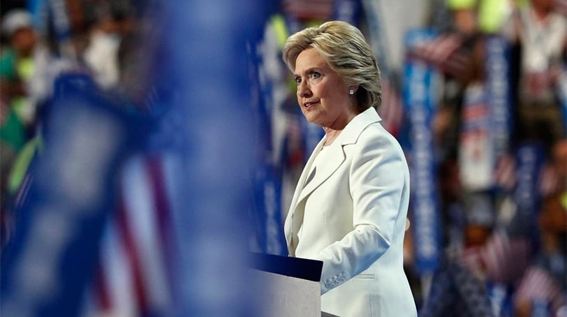 Democratic presidential nominee Hillary Clinton speaks during the final day of the Democratic National Convention in Philadelphia , Thursday, July 28, 2016. (Photo: Associated Press)