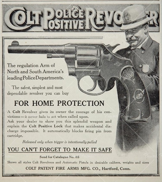 The Colt Police Positive was a favorite of the Keystone Cops era