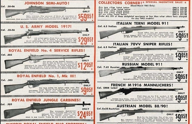 Hold your breath and wish for these prices as reflected in this 1961 GUNS magazine ad.