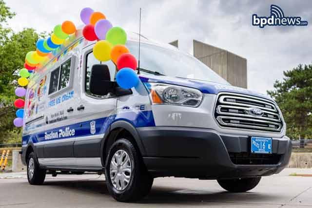 Boston Police Department ice cream truck