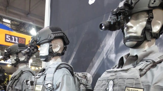 5.11 Tactical mannequins dressed to the nines one year at SHOT show. (Photo: Daniel Terrill)