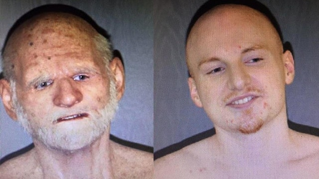 Shaun Miller, 31, disguised himself as an elderly man in an attempt to escape police custody.