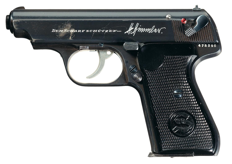 Heinrich Himmler marked presentation J.P. Sauer Model 38H was a shooting prize pistol