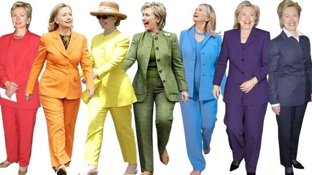 The many shades of Hillary Clinton.