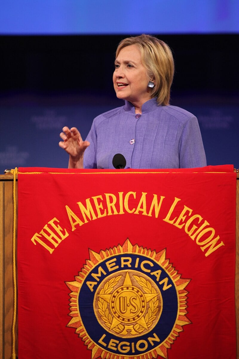 Democratic presidential nominee Hillary Clinton speaks at the 98th annual American Legion convention in Cincinnati, Ohio, on Wednesday, Aug. 31, 2016. (Photo: Michael Hjelmstad)