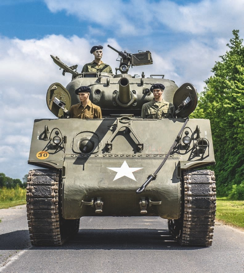 The 105 mm caliber main gun variant of the M4 Sherman is one of the rarest versions as Chrysler only made 800 of them during World War II. There are very few left in the world. This one is up for auction and comes complete with its working 9 cylinder Continental radial engine. (All Photos: Artcurial)