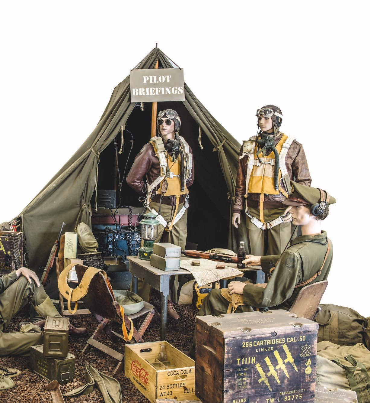 There are a number of well laid out displays with period equipment and uniforms. All up for grabs