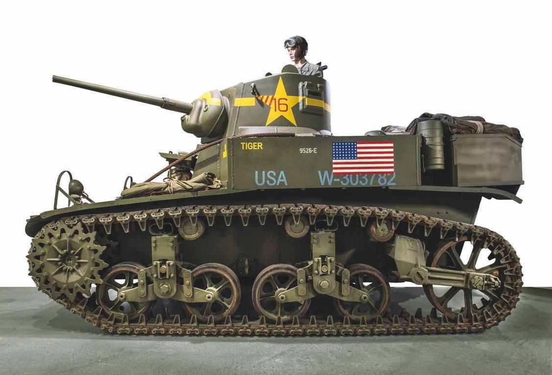 1942 Cadillac M3A1 Stuart light tank, no reserve