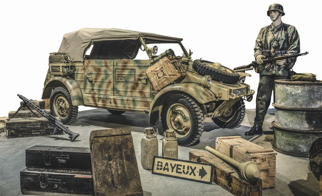 How about a VW Kübelwagen Typ 82 Kfz.1 with a flat-four air cooled engine. Curb weight, 2200 lbs