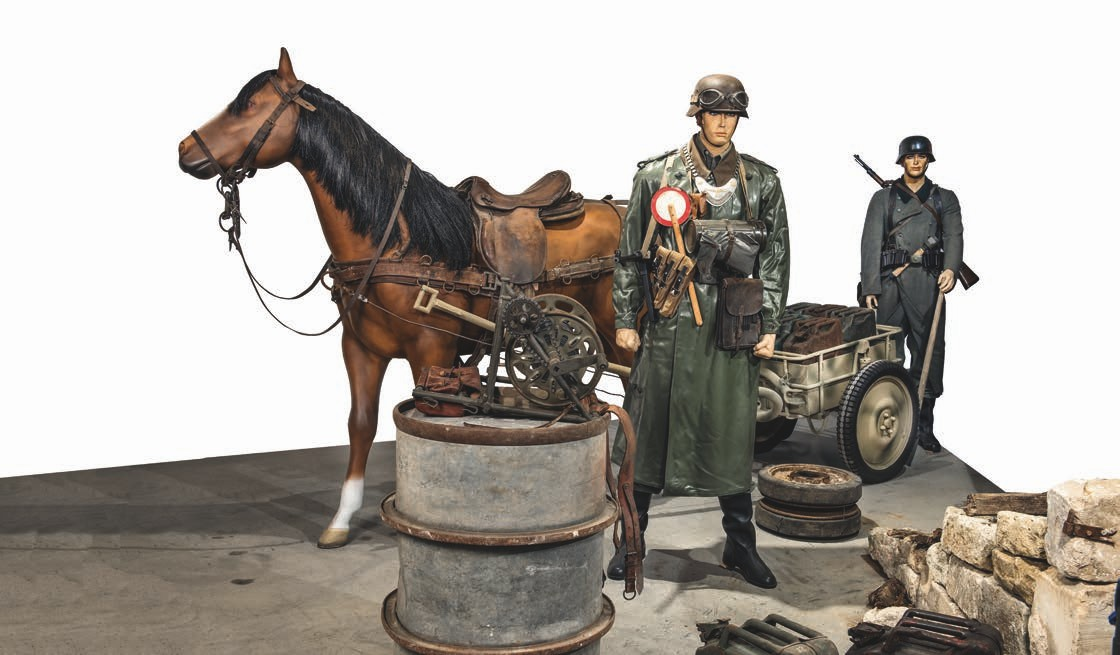 While the horse is a mock up, the IF8 horsedrawn trailer and Armeesattel 1925 come courtesy of the Germans.