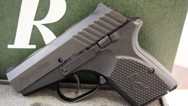 The Remington RM380 propped up against a box. (Photo: EDC Forums)