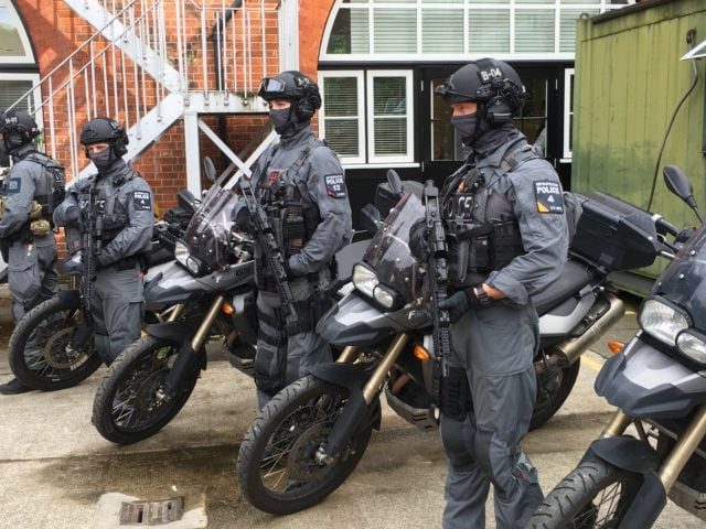 Some of the new force will be mounted on BMW motorcycles