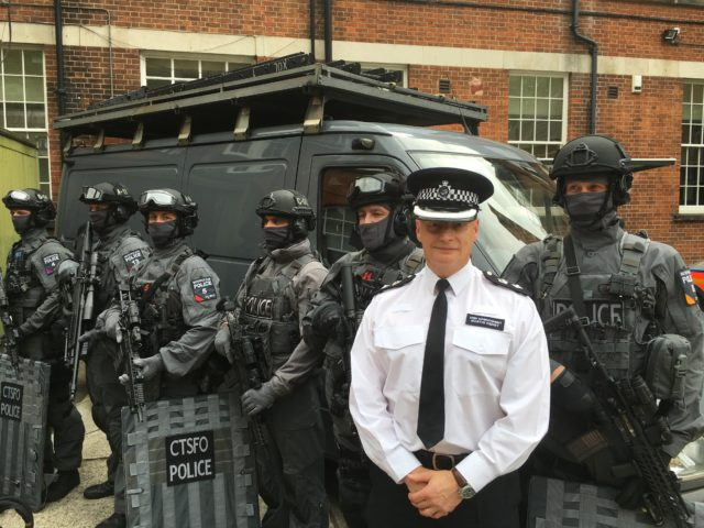 Counter Terrorism Specialist Firearms Officers with Chief Superintendent Martin Hendy