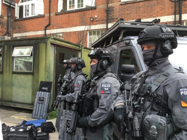 """The """"C-men"""" are heavily armed and armored, especially when compared to the traditional London cop."""