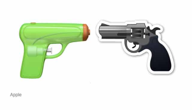 apple gun emoji