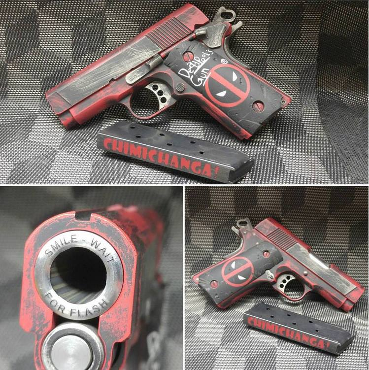 We give you, a Deadpool themed Colt New Agent