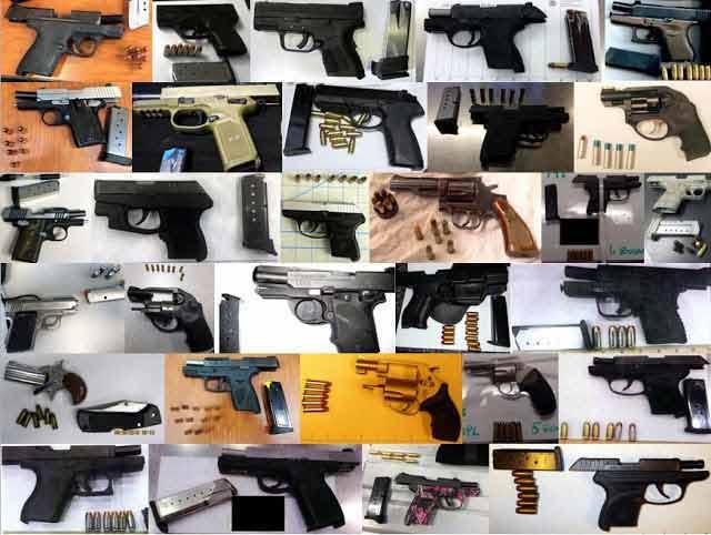 guns seized by tsa