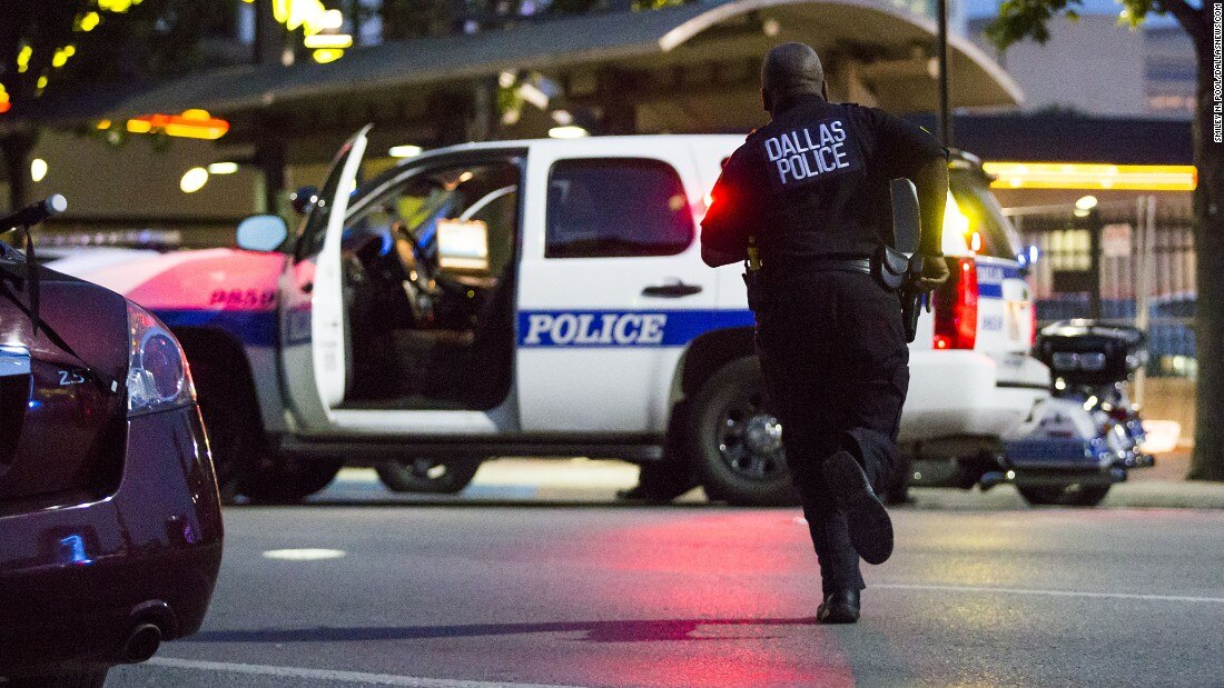 The sniper attack against Dallas police on July 7 left five officers dead and seven wounded. (Photo: CNN)