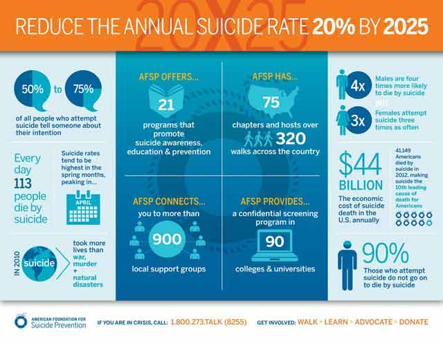 Project 2025 infographic reduce suicide rate