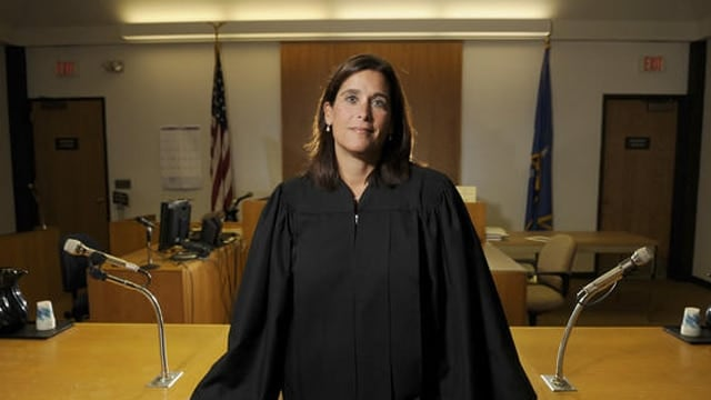 Superior Court Judge Barbara Bellis presides over the case between Sandy Hook victims and Remington Arms. (Photo: Hartford Courant)