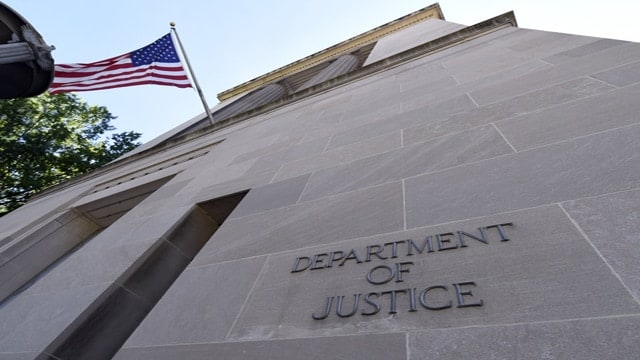 The Department of Justice in Washington, D.C. on Thursday, Aug. 27, 2015. (Photo: Susan Walsh/Associated Press)
