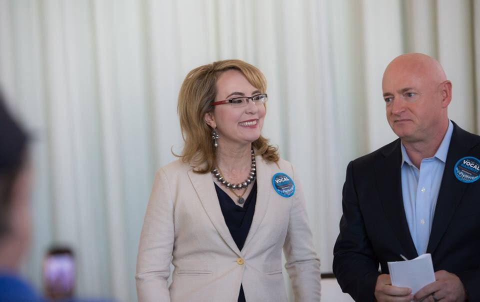 Former Arizona Congresswoman Gabrielle Giffords and her husband, Capt. Mark Kelly, kick of Vocal Majority campaign in Orlando. (Photo: Americans for Responsible Solutions/Facebook)