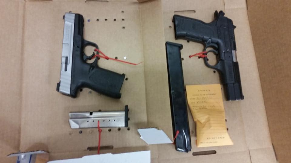 The two guns recovered by Chicago police. (Photo: CPD)