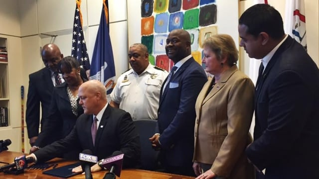 Under a law signed Monday by Mayor Mitch Landrieu, New Orleans is the first city in the state to require the reporting of lost or stolen guns. (Photo: Councilman Jason Williams)