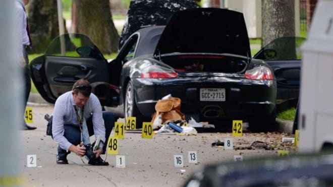 Gunman Nathan DeSai, a 46-year-old attorney, shot at passersby while standing outside his Porsche on the morning of Sept. 26, 2016. (Photo: The Houston Chronicle)