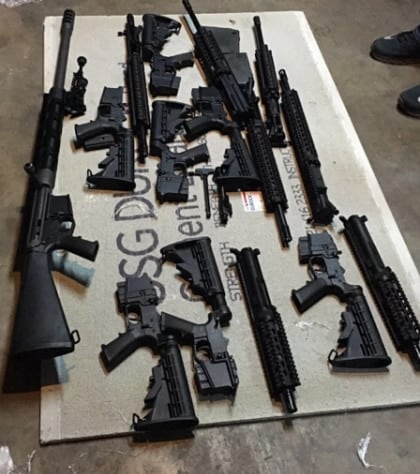 Thirteen weapons seized by Border Patrol agents. (Photo: CBP)