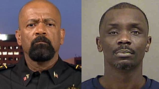 Milwaukee Sheriff David Clarke, left, and the man who insulted him.