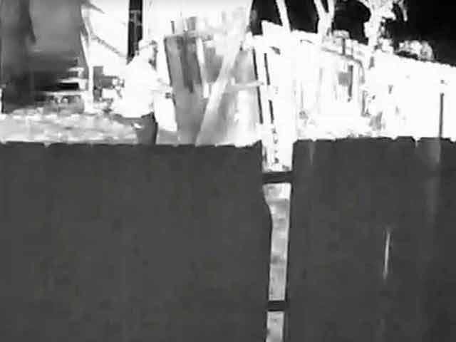 mosque fire suspect surveillance video