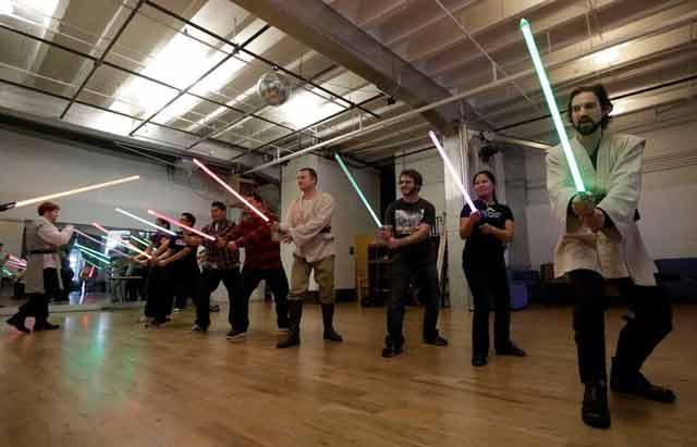 lightsaber training
