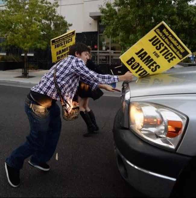 James Boyd protest