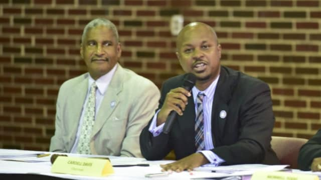 HABD President/CEO Michael Lundy, left, has a plan to cut violence in the housing under his control that includes a possible ban on firearms. (Photo: Frank Couch/HABD)