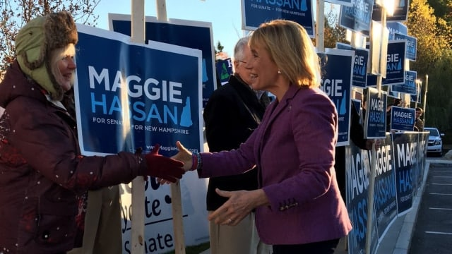 After vanquishing a series of pro-gun bills while in office, more than half of Gov. Hassan's U.S. Senate campaign contributions are coming from out of state gun control advocates. (Photo: Maggie for NH)