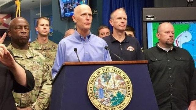 Florida Gov. Rick Scott provides an update on Hurricane Matthew Thursday, Oct. 6, 2016 at the state Emergency Operations Center in Tallahassee. (Photo: Kristen M. Clark/Miami Herald)