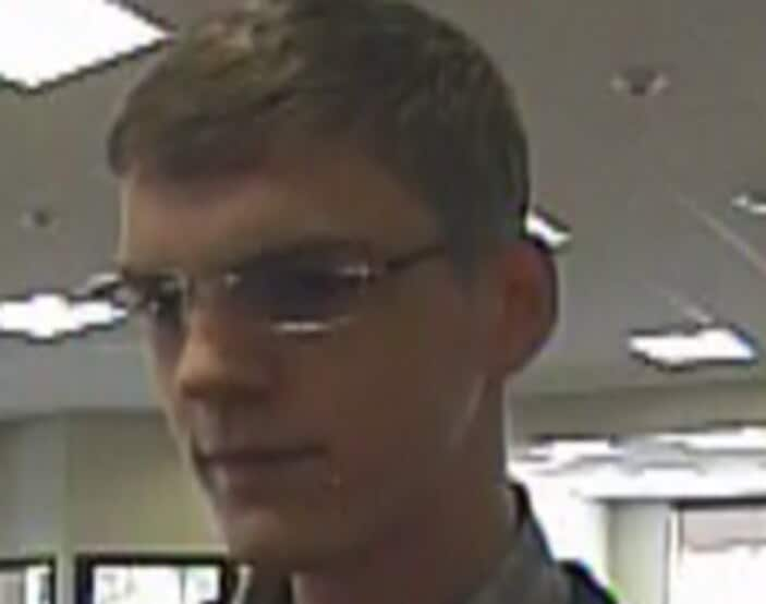 """The """"Harry Potter Bandit"""" has hit three banks in Washington state this year. The suspect wore a dark-colored zip-up jacket or sweater, button-down shirt, blue jeans and brightly colored shoes. He wore glasses in one robbery. No word on if he is going to team up with the """"Thug in a Rug Bandit"""" and make a caper movie."""