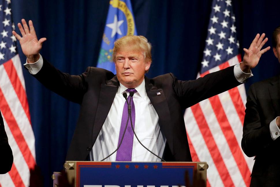 Donald Trump speaking at a caucus rally in Las Vergas on Feb. 23, 2016 (Photo: Getty Images)