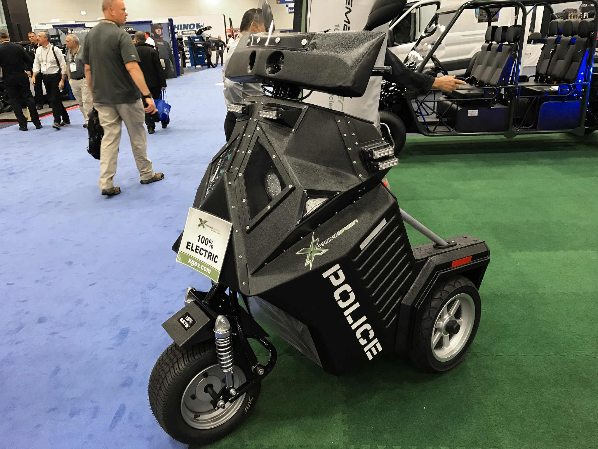 An Xtreme Green vehicle on display An Ekin smart surveillance demo set up during the National Association of Police Chiefs annual convention in San Diego Oct. 15-18, 2015. (Photo: Jared Morgan / Guns.com)