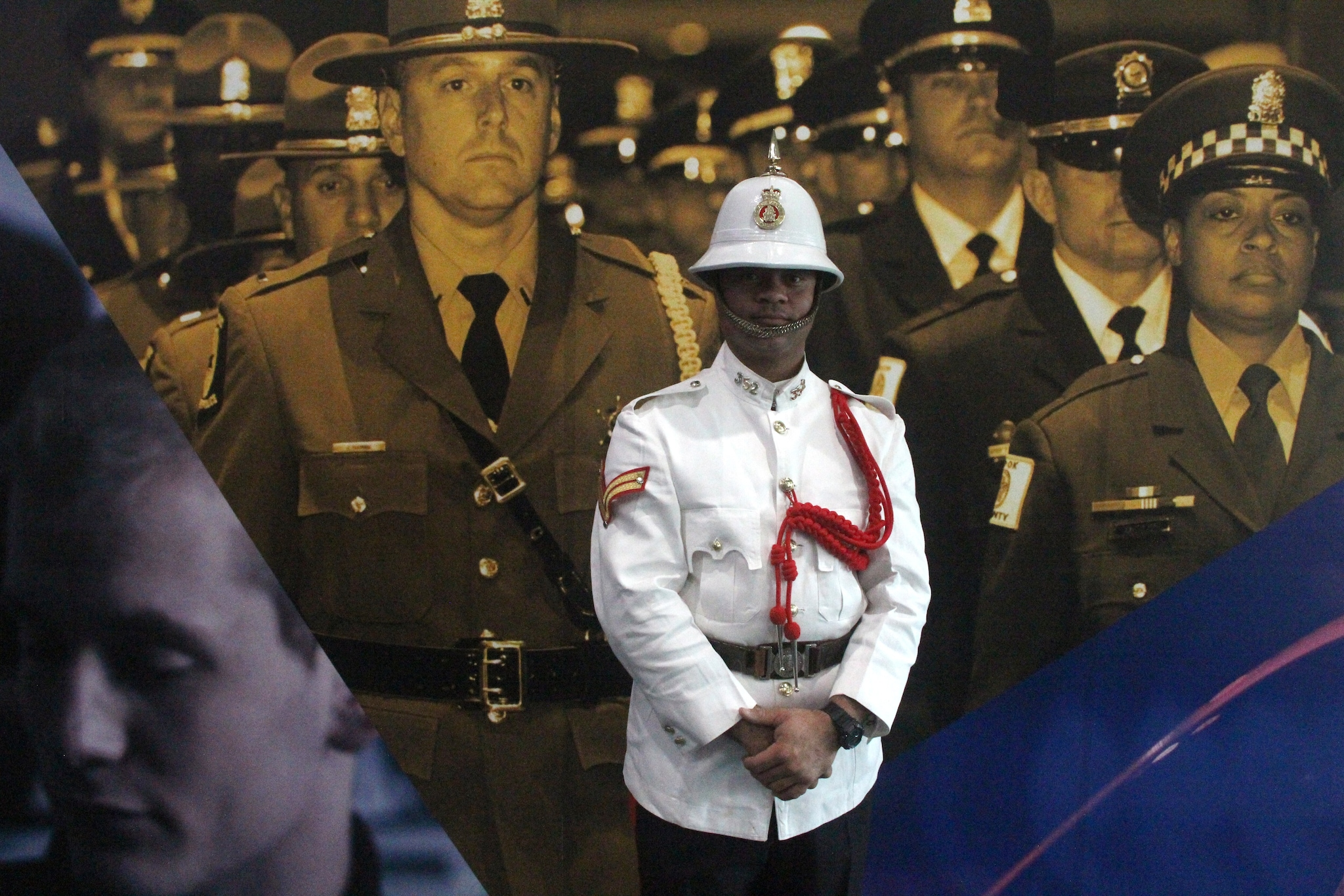 An officer from the Bahamas wear a ceremonial uniform on Uniform Day during the National Association of Police Chiefs annual convention in San Diego Oct. 15-18, 2015. (Photo: Jared Morgan / Guns.com)