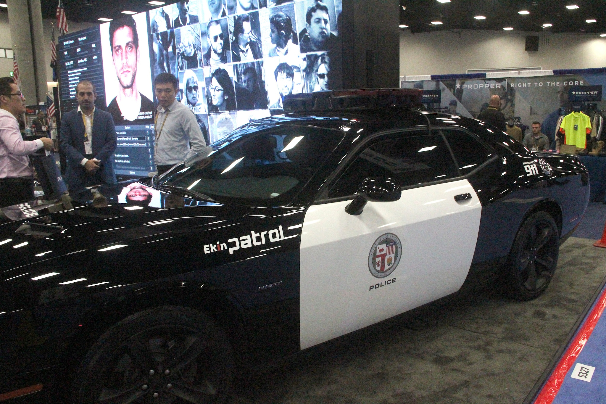 A wide shot of the Ekin smart surveillance system during the National Association of Police Chiefs annual convention in San Diego Oct. 15-18, 2015. (Photo: Jared Morgan / Guns.com)