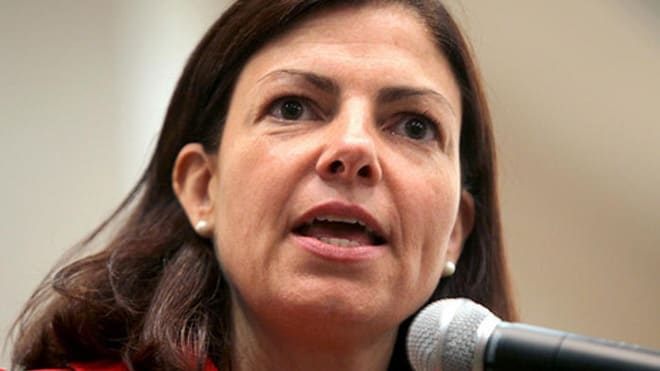 New Hampshire Sen. Kelly Ayotte has been targeted by anti-gun groups, which spent $2.5 million against her during the 2016 campaign. (Photo: NHPR)